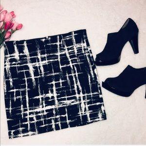 Eight Sixty B + W abstract print miniskirt